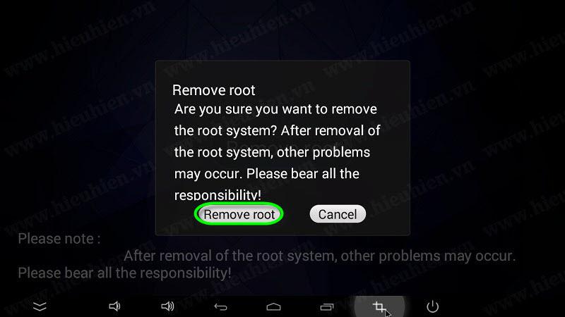 chon remove root de unroot zidoo