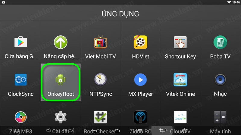 mo ung dung one key root de chay