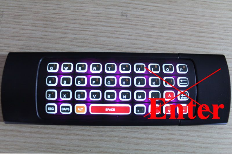 Hướng dẫn sửa lỗi không bấm được phím Enter của bàn phím chuột bay KM800, Vibox A3 trên Android Box 6.0
