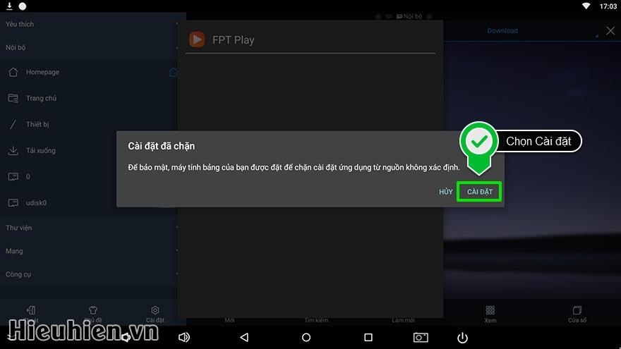 Cách tải và cài đặt ứng dụng cho Android TV Box trên web