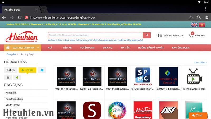 Hướng dẫn tải và cài đặt ứng dụng cho Android TV Box trên kho ứng dụng Hieuhien.vn