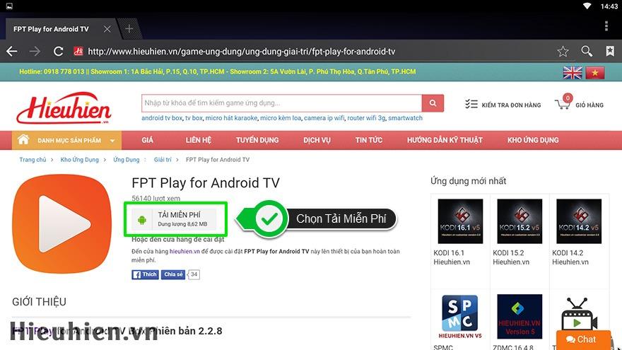 Cách tải và cài đặt ứng dụng cho Android TV Box trên web Hieuhien vn