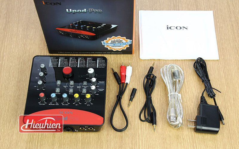 icon upod pro - sound card thu âm chuyên nghiệp - trọn bộ sản phẩm