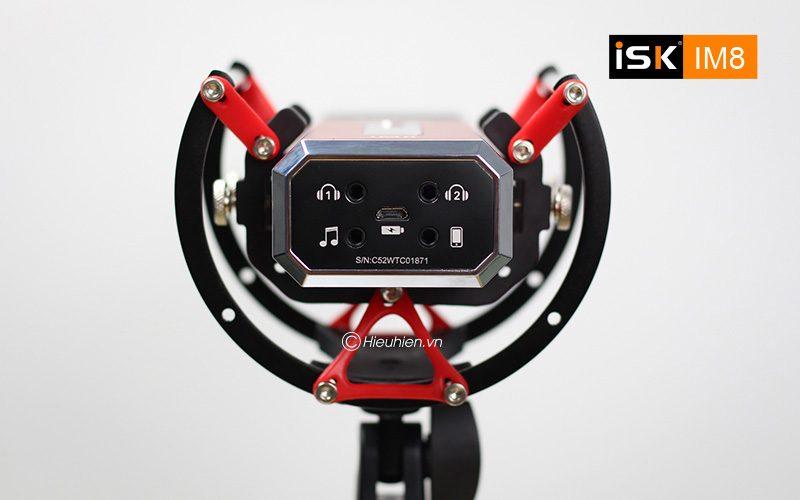 micro thu âm isk im8 hát live stream, karaoke không cần sound card - cổng kết nối