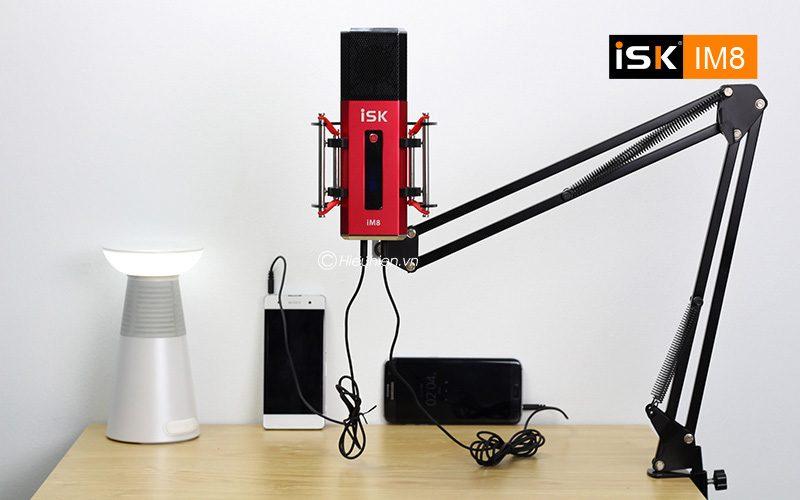 micro thu âm isk im8 hát live stream, karaoke không cần sound card - kết nối đơn giản