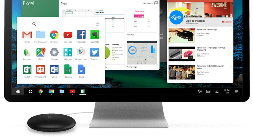 android pc remix mini chay he dieu hanh remix os
