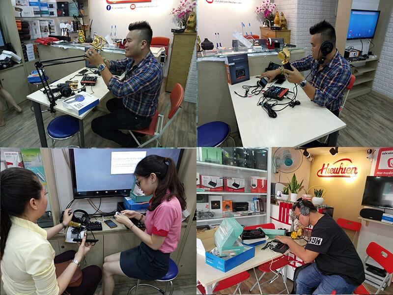 mua sắm thiết bị thu âm: micro, sound card, phụ kiện thu âm livestream tại hieuhien.vn