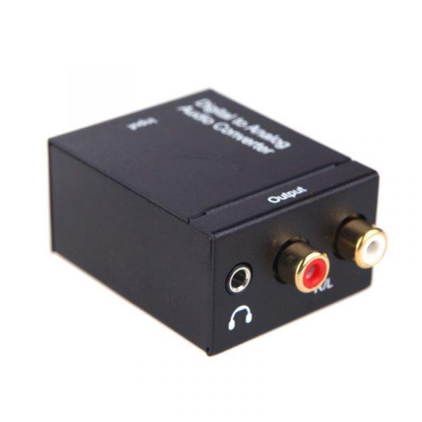 kit da-02 - bộ chuyển đổi âm thanh optical, coaxial sang analog ( có đầu ra 3.5 )
