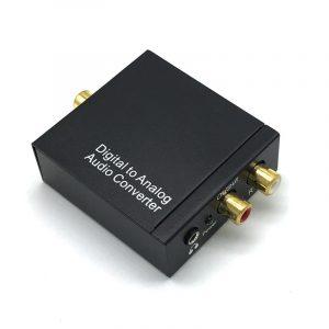 kit da-03 - bộ chuyển đổi âm thanh digital sang analog (quang sang av), có đầu ra 3.5