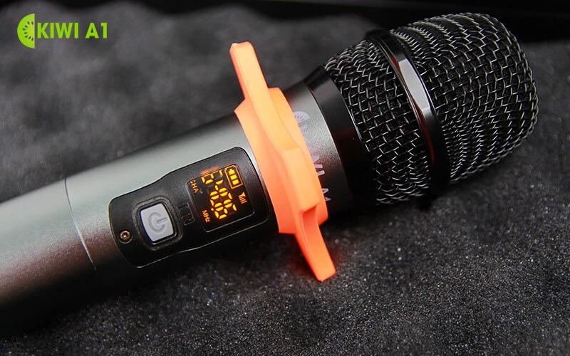 kiwi a1 micro karaoke không dây - đầu micro