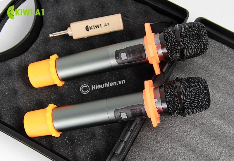 kiwi a1 micro karaoke không dây - 2 micro
