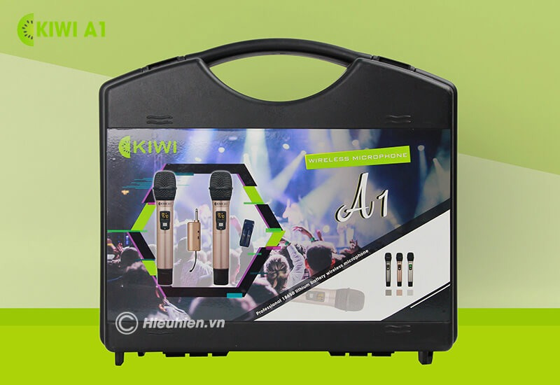 kiwi a1 micro karaoke không dây - hộp
