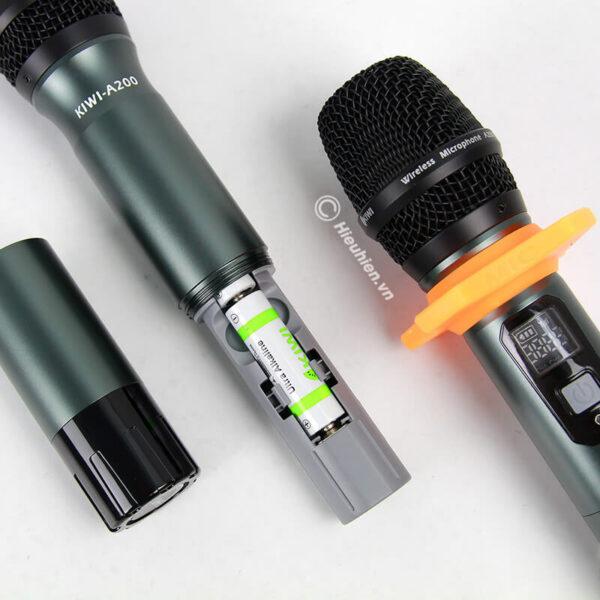 kiwi a200 micro không dây hát karaoke chuyên nghiệp - hình 06