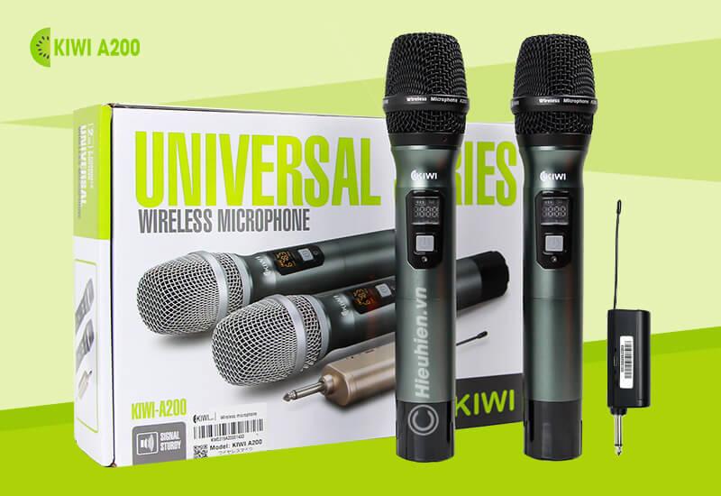 kiwi a200 micro không dây hát karaoke chuyên nghiệp - hình 07