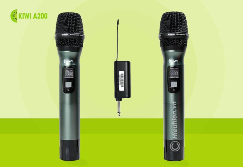 kiwi a200 micro không dây hát karaoke chuyên nghiệp - 2 micro