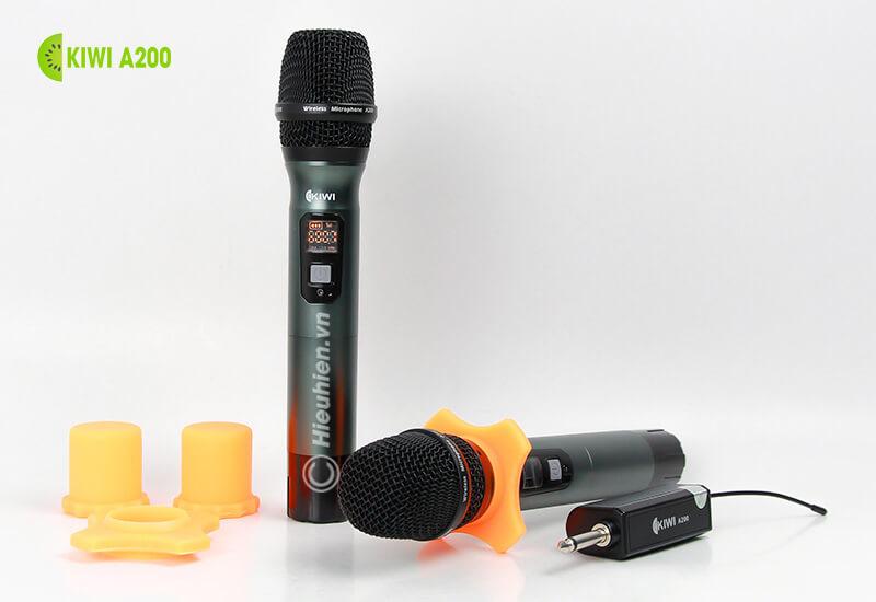kiwi a200 micro không dây hát karaoke chuyên nghiệp - bộ sản phẩm