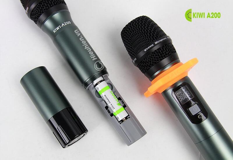 kiwi a200 micro không dây hát karaoke chuyên nghiệp - pin