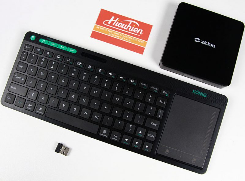 konig kc300t - bàn phím không dây cho android tv box, smart tivi - cổng usb