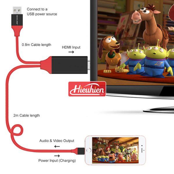 cáp lightning dde loại tốt - kết nối iphone, ipad với tivi, máy chiếu - hình 03