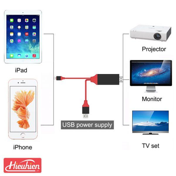 cáp lightning dde loại tốt - kết nối iphone, ipad với tivi, máy chiếu - hình 04