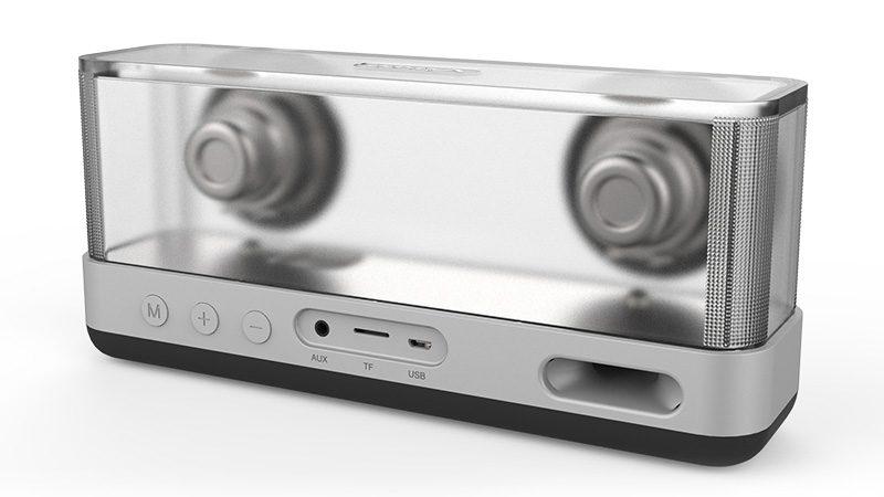 Loa Bluetooth Vidson I30 công suất 20W, thiết kế trong suốt độc đáo - mặt sau