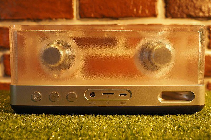 Loa Bluetooth Vidson I30 công suất 20W, thiết kế trong suốt độc đáo - khe thẻ nhớ