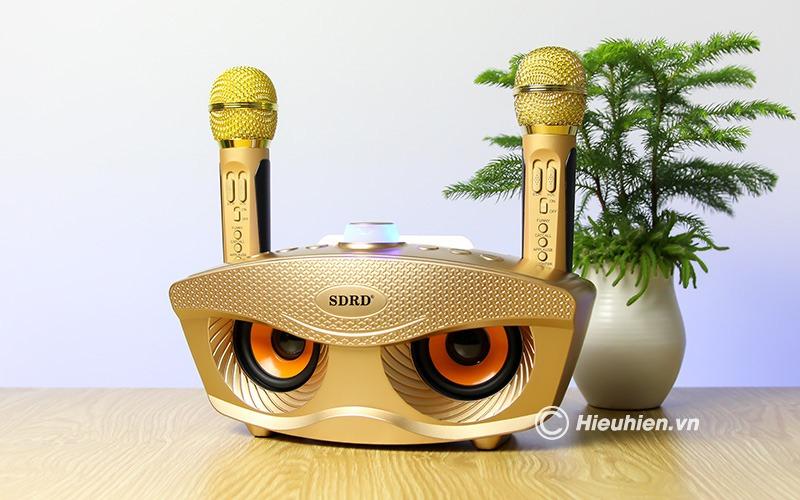 Loa bluetooth kèm 2 micro karaoke SD-306, Loa karaoke mini