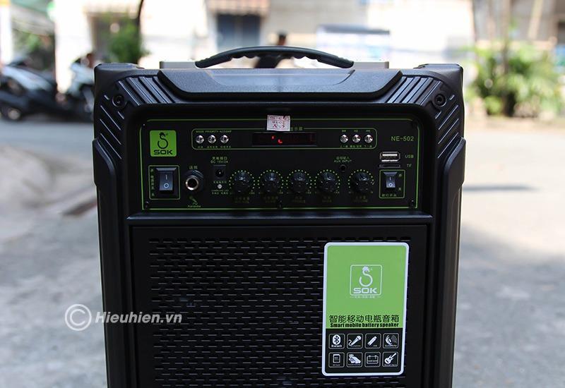 loa keo di dong sok ne-502 120w, hat karaoke cuc hay