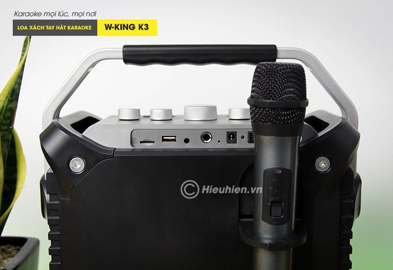 loa xách tay hát karaoke w-king k3 cực hay - thiết kế đẹp - cổng kết nối