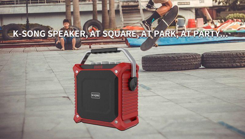 loa xách tay hát karaoke w-king k3 cực hay - thiết kế đẹp - công suất lớn