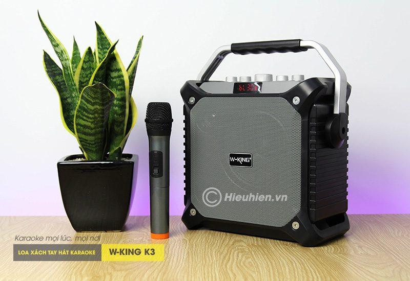 loa xách tay hát karaoke w-king k3 cực hay - thiết kế đẹp - màu đen