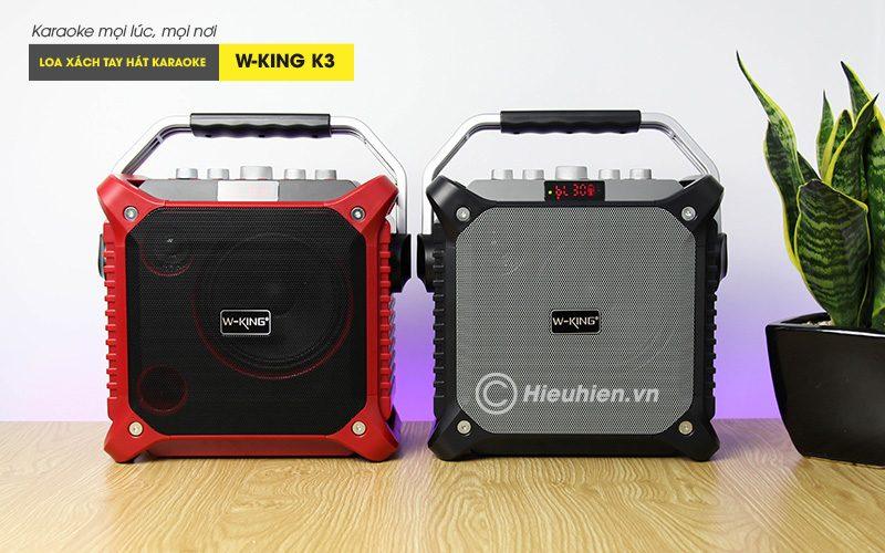 loa xách tay hát karaoke w-king k3 cực hay - thiết kế đẹp - 2 màu