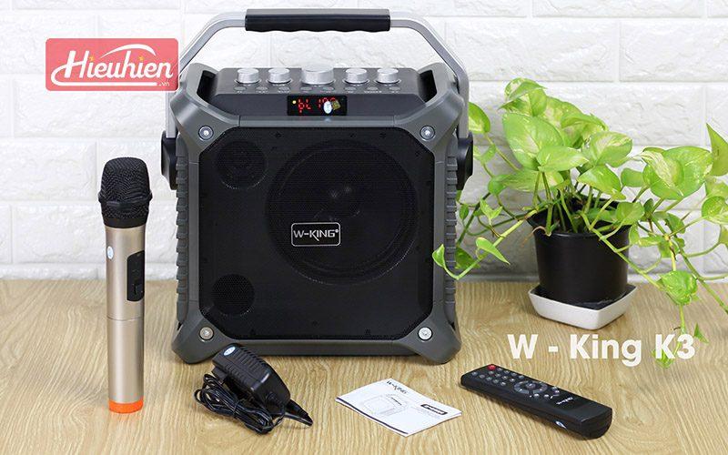 loa xách tay hát karaoke w-king k3 cực hay - thiết kế đẹp - phụ kiện
