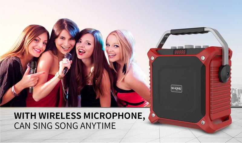 loa xách tay hát karaoke w-king k3 cực hay - thiết kế đẹp - micro nhạy