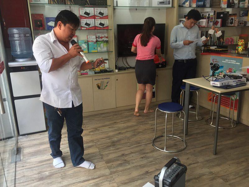 loa xách tay hát karaoke w-king k3 cực hay - thiết kế đẹp - khách hàng 06