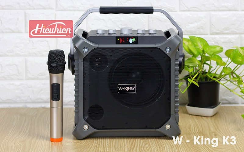 loa xách tay hát karaoke w-king k3 cực hay - thiết kế đẹp - màu xám