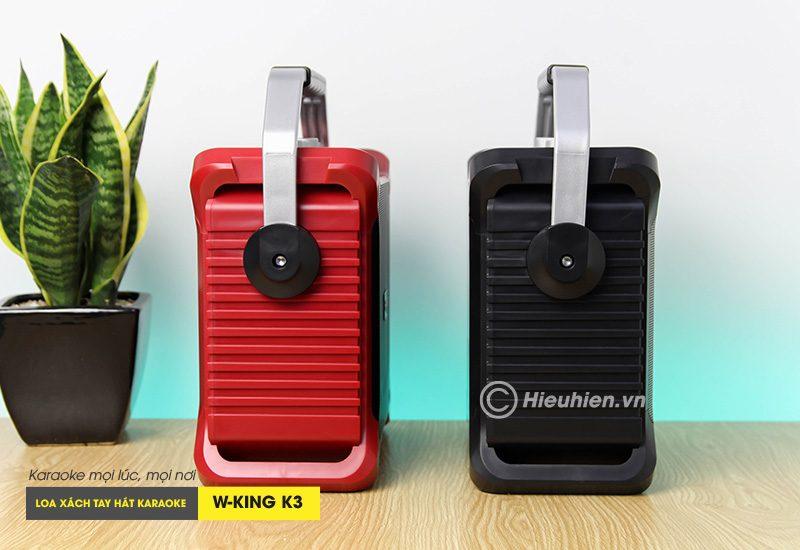 loa xách tay hát karaoke w-king k3 cực hay - thiết kế đẹp - cạnh bên