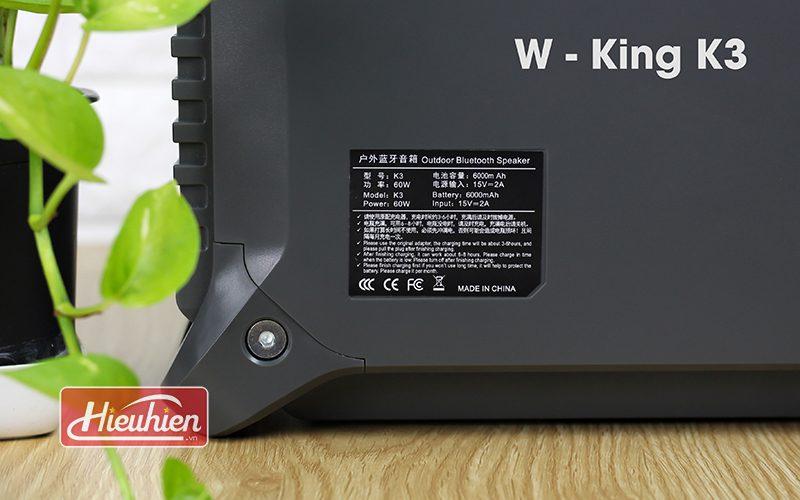 loa xách tay hát karaoke w-king k3 cực hay - thiết kế đẹp - tem thông số
