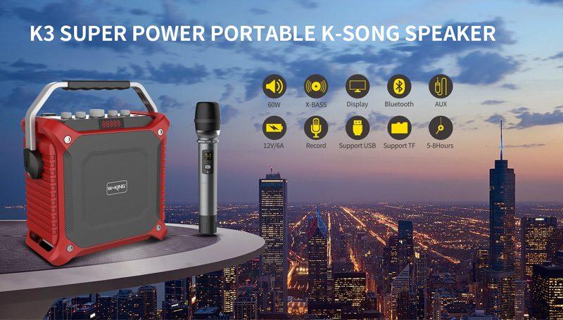 loa xách tay hát karaoke w-king k3 cực hay - thiết kế đẹp