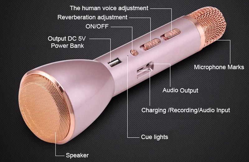 micro hat karaoke k088 tich hop loa bluetooth
