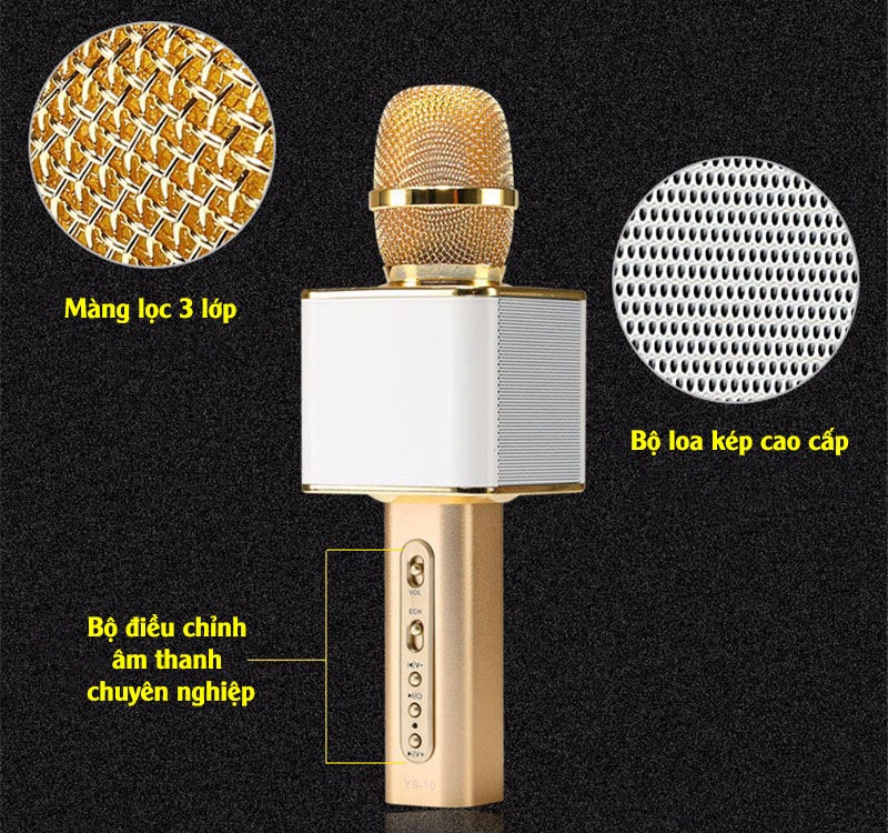 magic karaoke ys-10 - micro kem loa 3 trong 1 hat karaoke bluetooth cuc hay 06