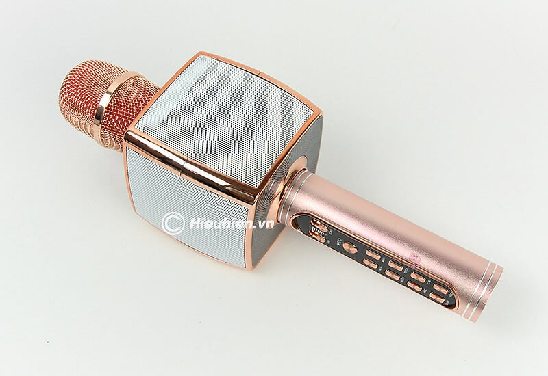 Magic Karaoke YS-91 - Micro Karaoke kèm Loa Bluetooth 3 trong 1 - màu hồng