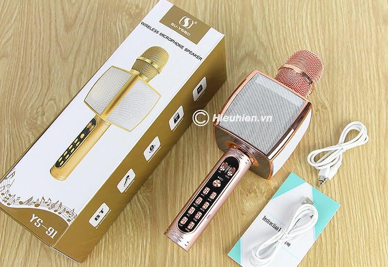 Magic Karaoke YS-91 - Micro Karaoke kèm Loa Bluetooth 3 trong 1 - phụ kiện