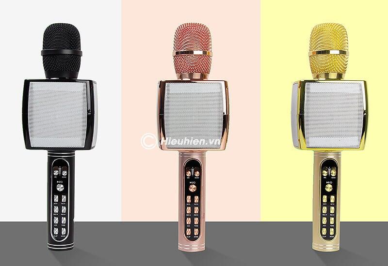 Magic Karaoke YS-91 - Micro Karaoke kèm Loa Bluetooth 3 trong 1 - màu sắc nổi bật