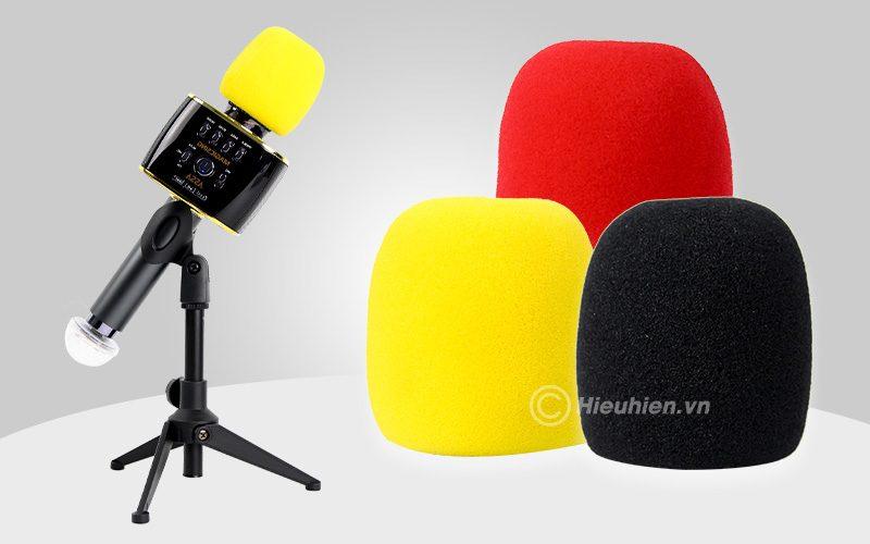 magic sing mp30 - micro karaoke bluetooth cao cấp, hát cực hay - bông lọc mic