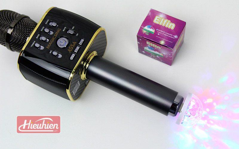 magic sing mp30 - micro karaoke bluetooth cao cấp, hát cực hay - đèn led