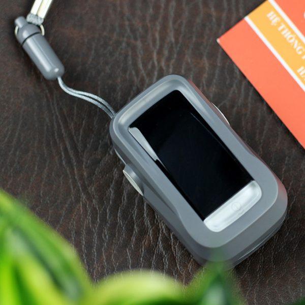 máy đo nhịp tim và nồng độ oxy trong máu fingertip pulse oximeter - hình 03