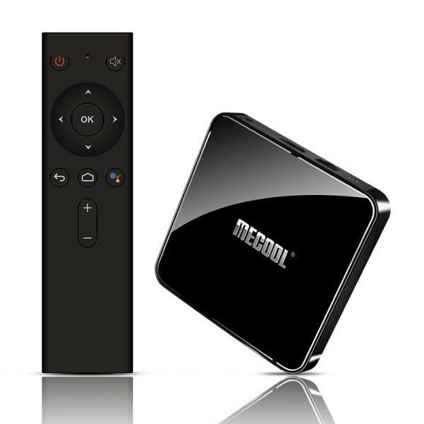 mecool km3 android tv 9.0, amlogic s905x2 4gb/64gb, có voice remote tìm kiếm bằng giọng nói