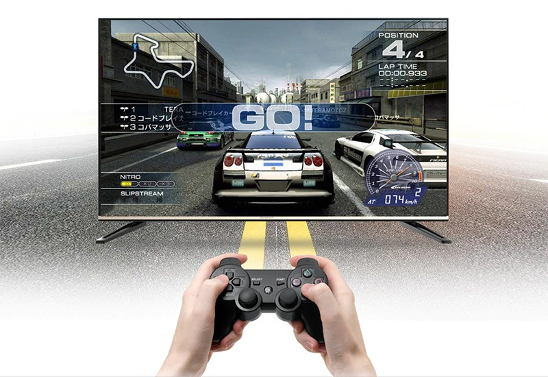 mecool km8 android tv 8.0 hỗ trợ voice remote, google certificate - chơi game
