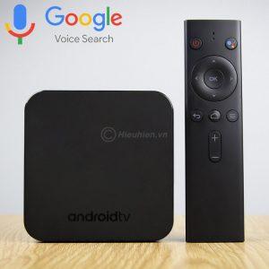 mecool km9 android tv 8.1, chip amlogic s905x2, 4gb/32gb, tìm kiếm bằng giọng nói